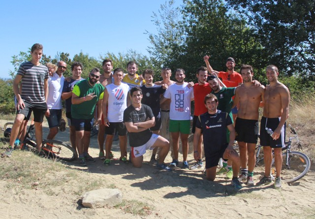L'Imola Rugby si allena a Fontanelice con la mountain bike