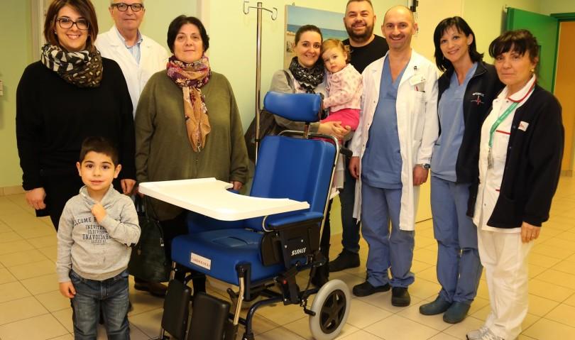 Ospedale di Imola, una carrozzina in nome di Gianni Biagi
