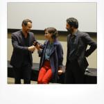 Stefano Accorsi con Matilda De Angelis e il regista Matteo Rovere
