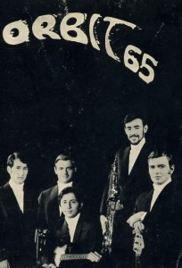 orbit 65 - manifesto  prima formazione (Valter Manara, Pino Gollini, Maurizio Minganti, Betti Ronardo, Paolo Gollini.  1967 (waltmanara, pino, maurizio, ronardo, paolo)