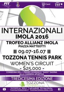 Manifesto 2016 Internazionali Tennis Imola