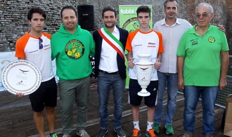 I migliori giovani ciclisti a Dozza in ricordo di Luciano Pezzi