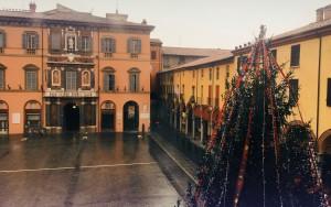 veduta natalizia di Imola