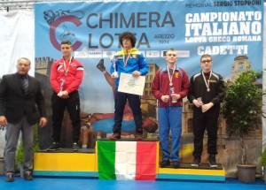Simone Gironda terzo classificato 85 kg Campionato italiano cadetti