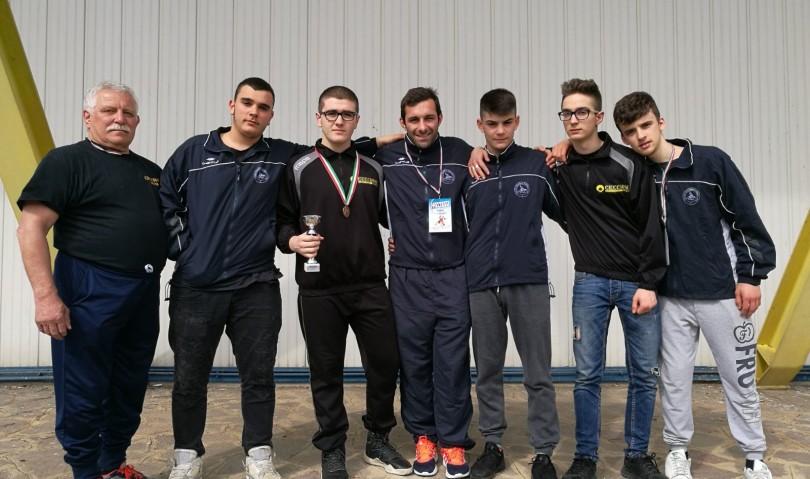 Medaglia dei Campionati Italiani Cadetti under18 per l'Unione sportiva Lotta