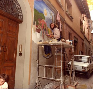 Mazzetti dipinge Il Menestretto Dozza81