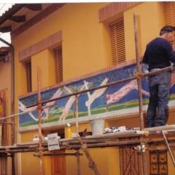 Muro dipinto, Dozza fa le prove generali