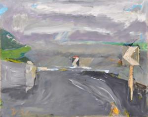 Guardare è dar vita alla distanza - 80x100 cm - acrilico e collage su tela 1993, collezione privata
