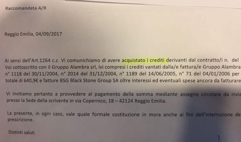 """Vicenda """"Alambra"""", nuovi solleciti di pagamento agli imprenditori di Vallata"""