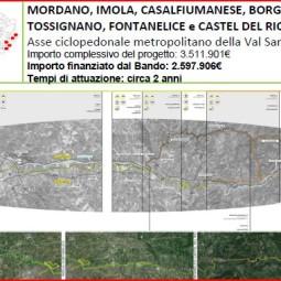"""Ciclabile Mordano – Castel del Rio, 500 firme per dire """"no"""""""