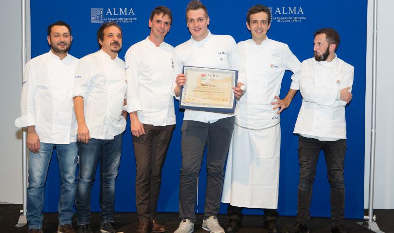 L'imolese Davide Cavina si diploma cuoco professionista all'ALMA di Parma