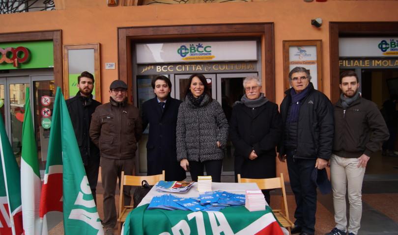 La candidata di Forza Italia Nunzia De Girolamo in visita a Imola