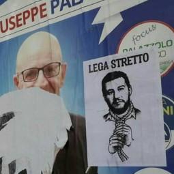 Salvini con il cappio al collo e macabri volantini nel centro storico di Imola