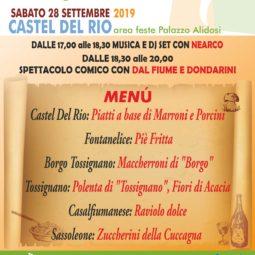 """Il 28 settembre a Castel del Rio torna """"Tipica"""" la sagra delle sagre"""